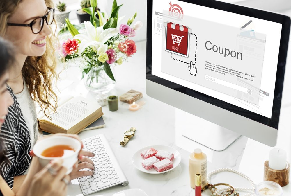 Women Looking for a Digital Coupon for Local Business Online